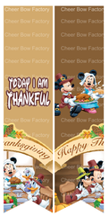 Today I Am Thankful Cheer Bow Ready to Press Sublimation Graphic