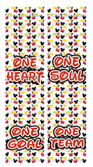 One Heart One Soul One Team One Goal Nationals Cheer Bow Ready to Press Sublimation Graphic