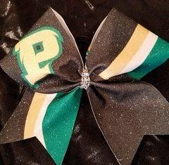 """P"" Glitter Cheer Bow"