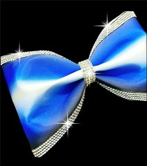 The Cynthia Ombre Rhinestone Tailless Cheer Bow