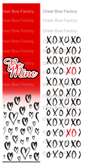 Be Mine Cheer Bow Ready to Press Sublimation Graphic