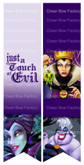 Just A Touch of Evil Disney Villains Cheer Bow Ready to Press Sublimation Graphic
