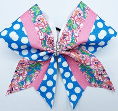 Lilly Inspired Garden Glitter Cheer Bow