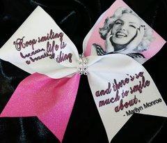 Marilyn Monroe Keep Smiling Cheer Bow