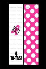 Rah Rah 4 Ta-Tas Breast Cancer Awareness Cheer Bow Ready to Press Sublimation Graphic