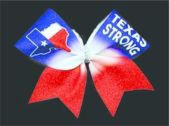 Texas Strong Glitter Cheer Bow