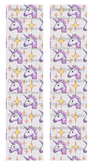 Unicorn Emoji Cheer Bow Ready to Press Sublimation Graphic