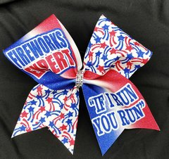 Fireworks Expert If I Run You Run Glitter Cheer Bow