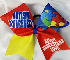 Autism Awareness Cheer Bow