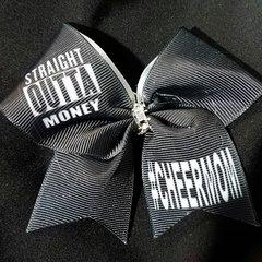 Straight Outta Money #cheermom Mini Ribbon Keychain