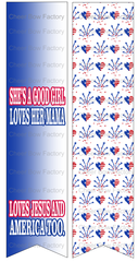 She's a Good Girl Loves Her Mama Loves Jesus America Too Ready to Press Sublimation Graphic