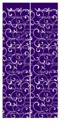 Trellis Purple Cheer Bow Ready to Press Sublimation Graphic