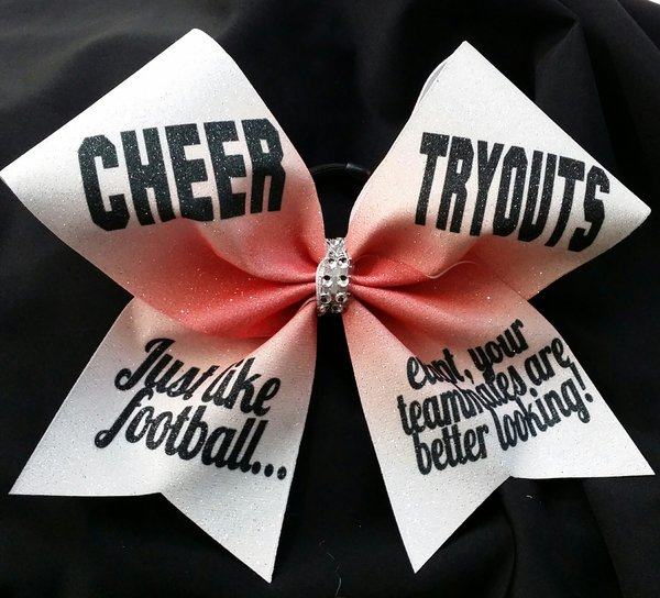 cheer tryouts just like football cheer bow