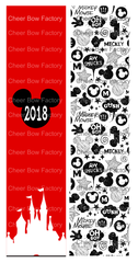 2018 Mickey Cheer Bow Ready to Press Sublimation Graphic