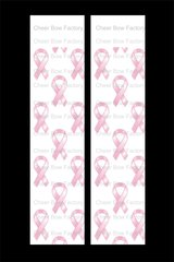 Breast Cancer Awareness Ribbon Cheer Bow Ready to Press Sublimation Graphic