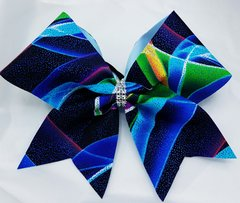 The Blues Fabric Cheer Bow