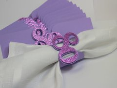 Purple 80 Napkin Holders, 12pcs