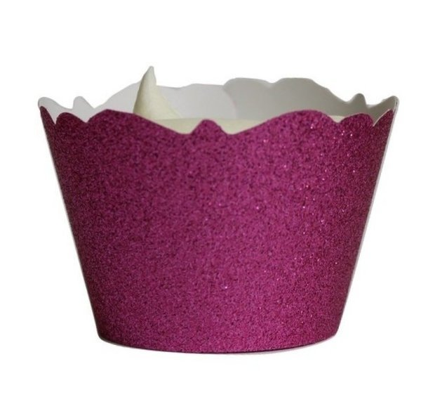 Pink Glitter Cupcake Wrappers