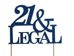 Blue 21 & Legal Cake Topper