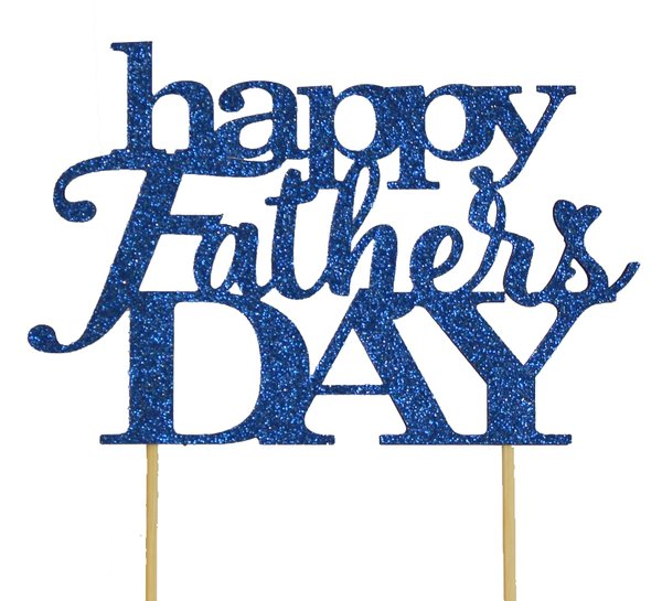 Blue Happy Father's Day Cake Topper