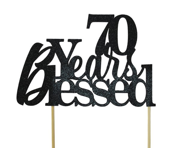 Years Blessed Cake Topper