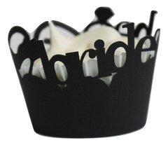 Black Bride to be Cupcake Wrappers
