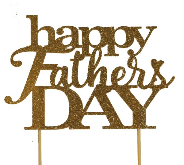 Gold Happy Father's Day Cake Topper