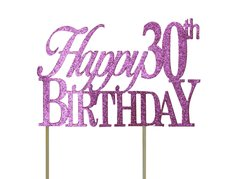 Pink Happy 30th Birthday Cake Topper