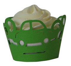 Green Cars Cupcake Wrappers