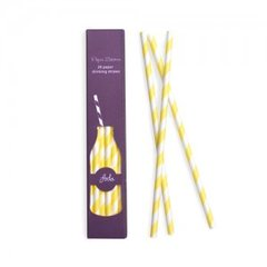 Stripes Paper Straws Limoncello Yellow 24pc