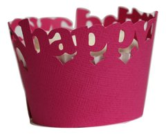 Taffy Pink Happy Birthday Cupcake Wrappers