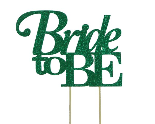 Green Bride to be Cake Topper