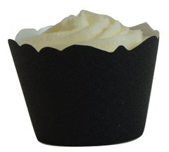 Black Glitter Cupcake Wrappers