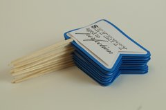 Blue Marine 70th Birthday Quotes Cupcake Toppers