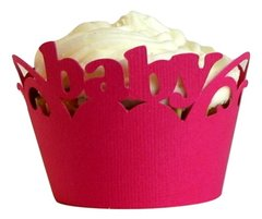 Taffy Pink Baby Cupcake Wrappers