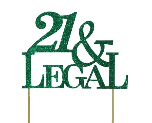 Green 21 & Legal Cake Topper