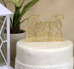 Gold Happy 18th Birthday Cake Topper