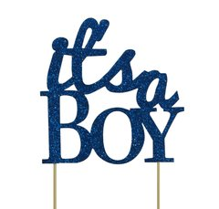 Blue It's a Boy Cake Topper