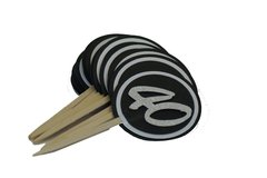 Black & White 40 Cupcake Toppers