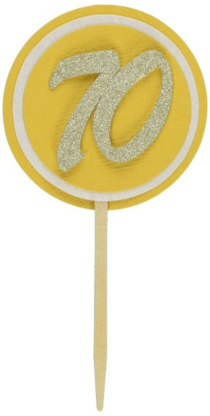 Gold 70 Cupcake Toppers