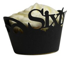 Black Sixty Cupcake Wrappers
