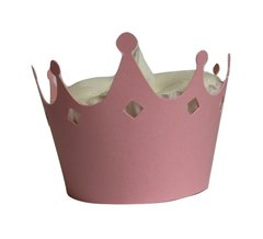 Shimmer Pink Crown Cupcake Wrappers