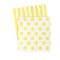 Dots & Stripes Napkins Limoncello Yellow 20PC