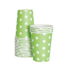 Dots Paper Cups Apple Green 12pc