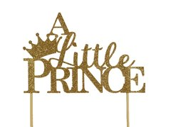 Gold A Little Prince Cake Topper