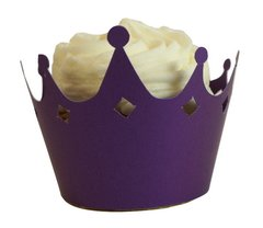 Shimmer Purple Crown Cupcake Wrappers