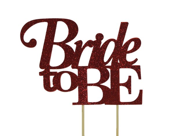 Red Bride to be Cake Topper