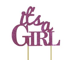 Pink It's a Girl Cake Topper