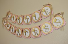 Shimmer Pink & Gold Little Princess Banner