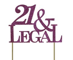 Pink 21 & Legal Cake Topper